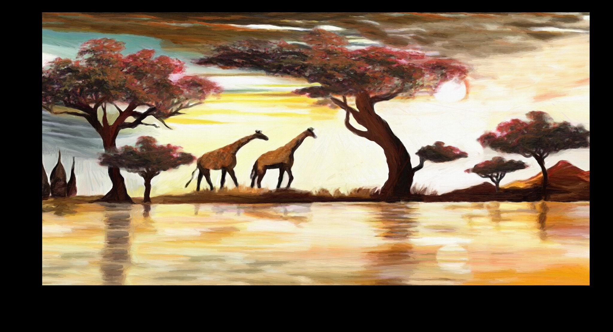 "Постеры Постер ""Два жирафа"" п297.png"