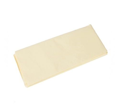 Бумага тишью 10 шт., 50x66 см, цвет: кремовый