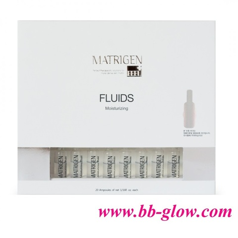Увлажняющий флюид (для сухой обезвоженной кожи) Matrigen Moisturizing Fluids 1 коробка 20 ампул по 2 мл.