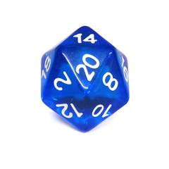 Куб D20 прозрачный: Синий