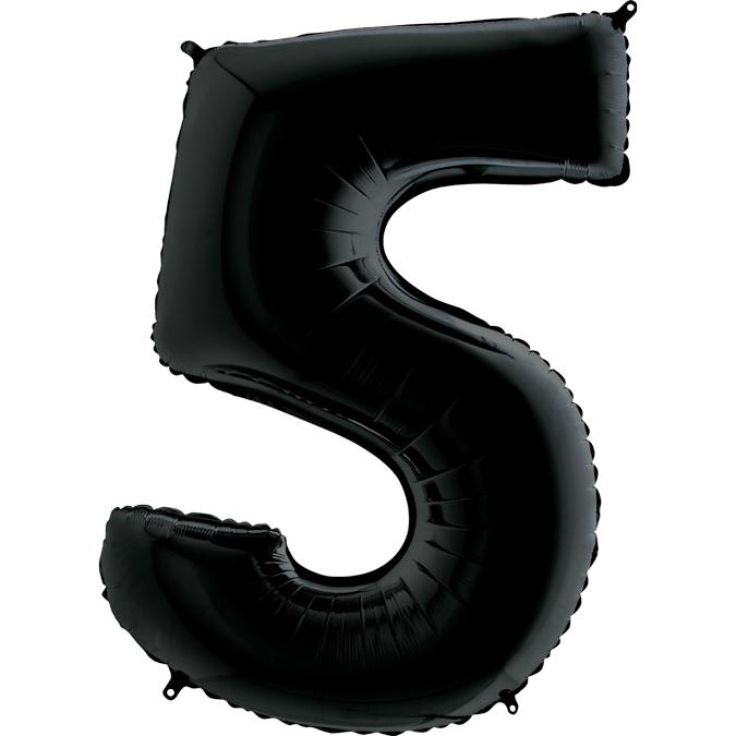 Черная цифра 5