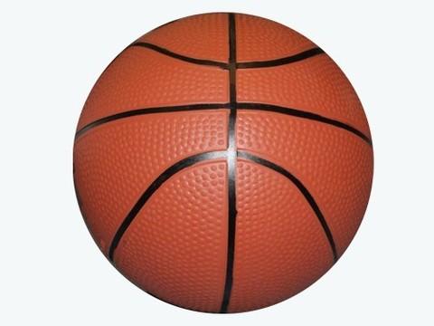 Мячик надувной баскетбольный. Диаметр 14 см. :(14-Б):