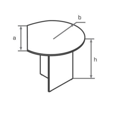 Стол приставной угловой закругленный МОНО-ЛЮКС