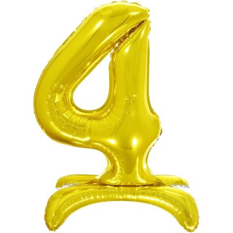 4 Цифры на подставке на пол, Золото, 81 см