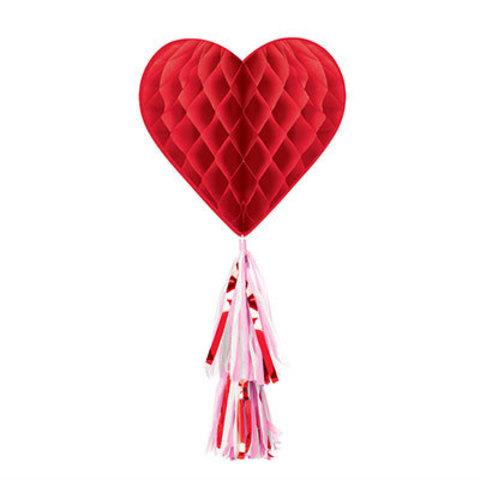 Фигура бумажная Сердце красное тассел