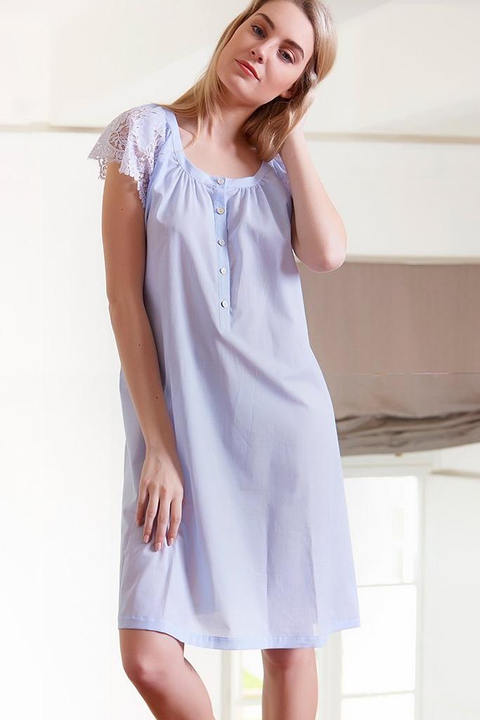 Голубая сорочка из хлопка Verdiani