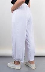 Фантазія. Літні жіночі штани великий розмір. Білий.