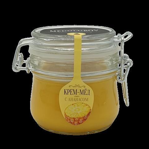 Крем-мёд с Ананасом бугельная банка МЕДОЛЮБОВ, 250 мл