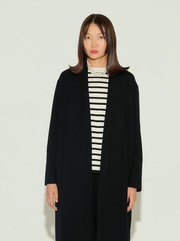Женский джемпер в полоску черно-молочного цвета из шелка и кашемира - фото 4