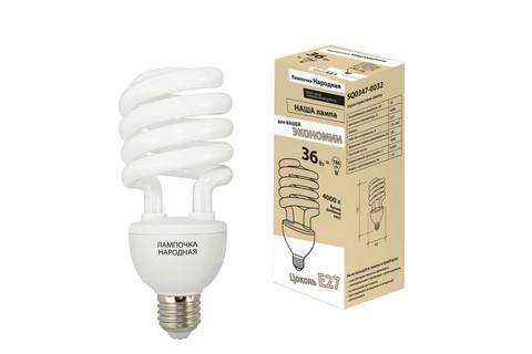 Лампа люминесцентная НЛ-HS-36 Вт-4000 К–Е27