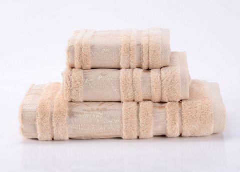 Bamboo CL-2  бежевое бамбуковое махровое  полотенце Valtery