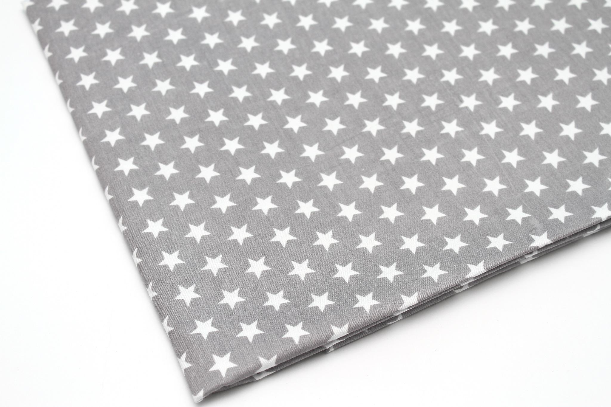 Звезды белые на сером,12 мм