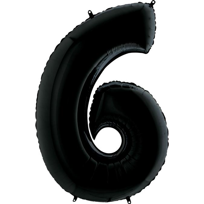 Черная цифра 6