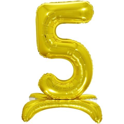 5 Цифры на подставке на пол, Золото, 81 см