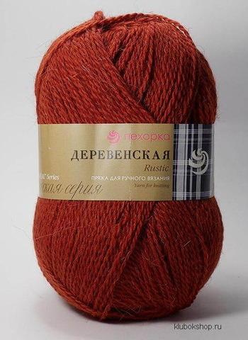 Пряжа Деревенская (Пехорка) 487 Красное дерево, фото