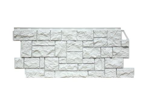 Фасадная панель Камень дикий ФайнБир - Мелованный Белый
