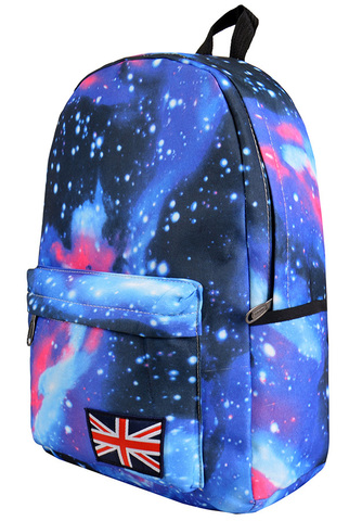Рюкзак космос синий фото
