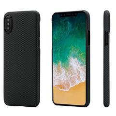 Чехол Pitaka MagCase iPhone X Black/Grey (Plain)