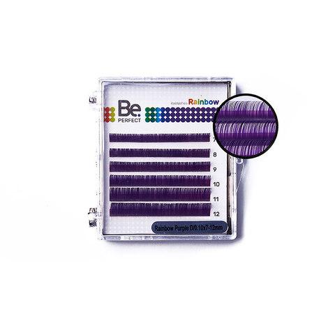 Цветные ресницы Be Perfect Rainbow Purple MIX (6 линий)