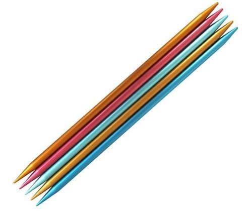 Спицы для вязания Addi Colibri чулочные  20 см, 3.75 мм