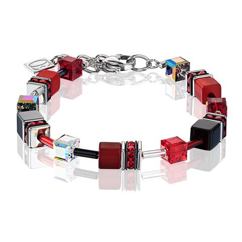 Браслет Coeur de Lion 4014/30-0312 цвет красный, чёрный