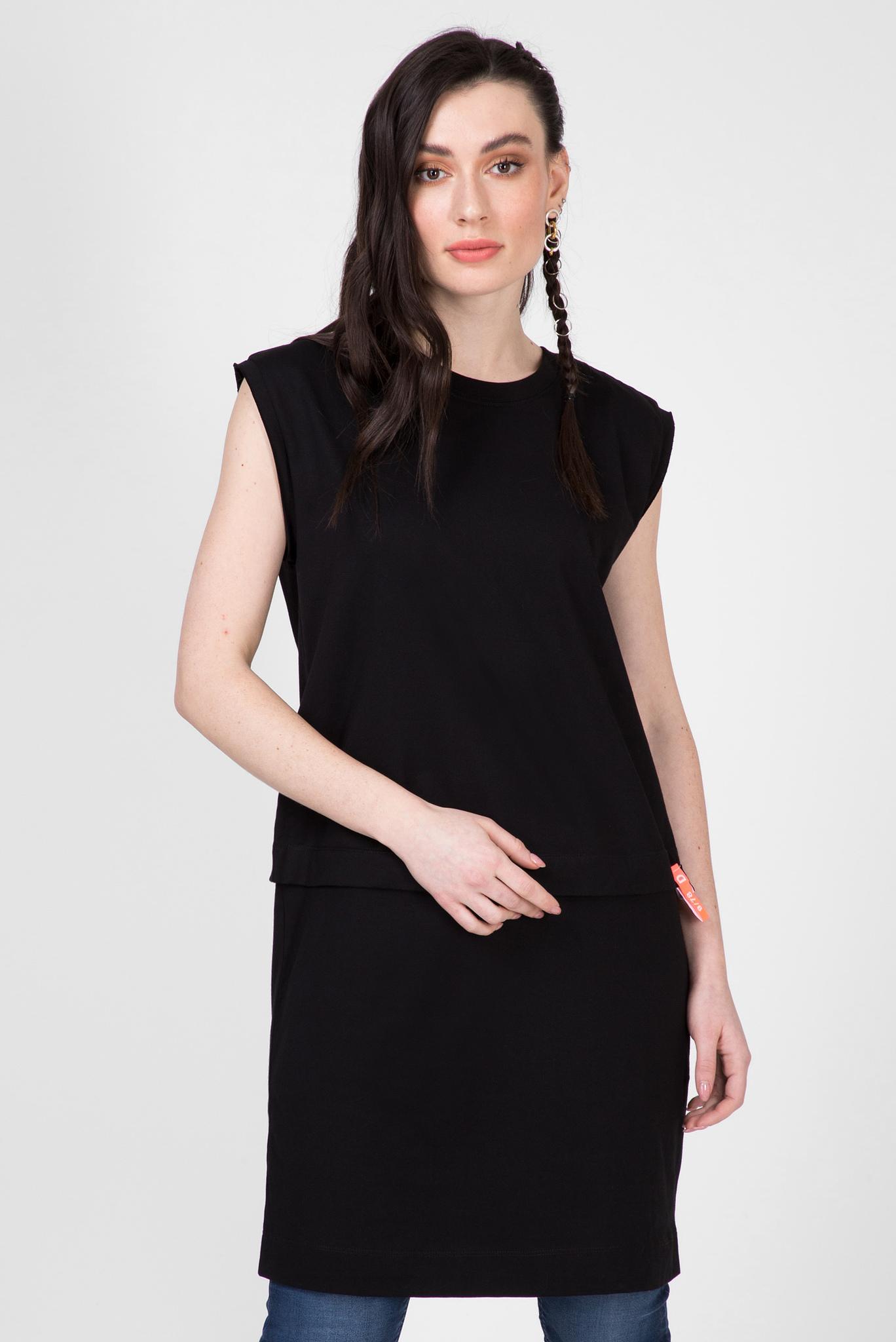 Женское черное платье-футболка D-HATTER Diesel