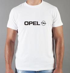 Футболка с принтом Опель (Opel) белая 002