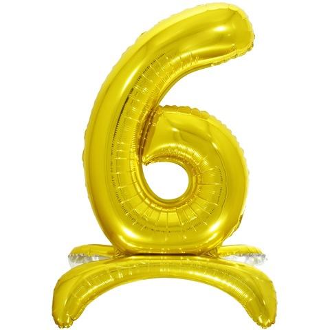 6 Цифры на подставке на пол, Золото, 81 см