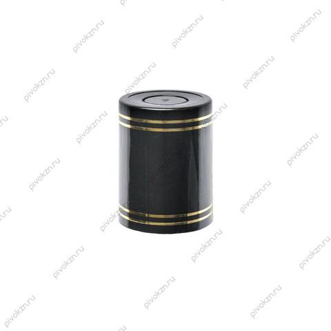 Колпачок Гуала 47 мм, черный, 10 шт