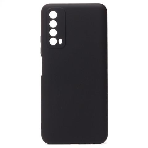 Чехол для Huawei P Smart 2021/Y7a Софт тач мягкий эффект | микрофибра черный