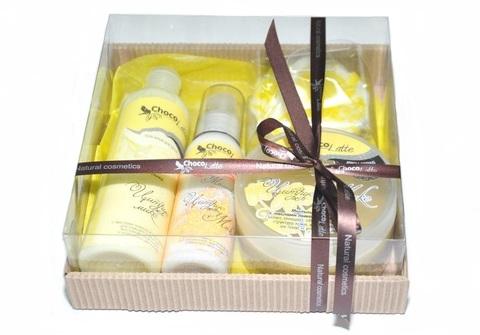Набор подарочный №4 для тела и душа Цитрус-Микс (пенка, молочко, скрабби, м/ассорти)/TM ChocoLatte