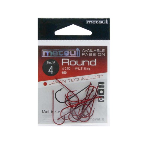 Крючки Metsui Round red № 4