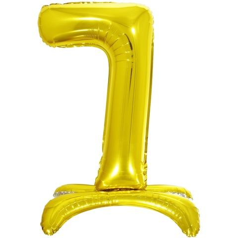 7 Цифры на подставке на пол, Золото, 81 см