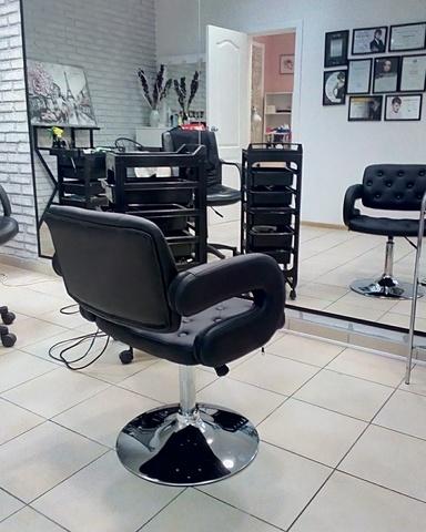 Кресло парикмахера Gregor (стул мастера, для маникюра), регулировка по высоте, вращение, экокожа