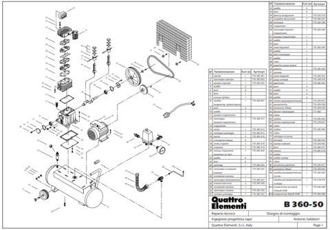 Головка цилиндра QUATTRO ELEMENTI B 360-50 (770-285-032)