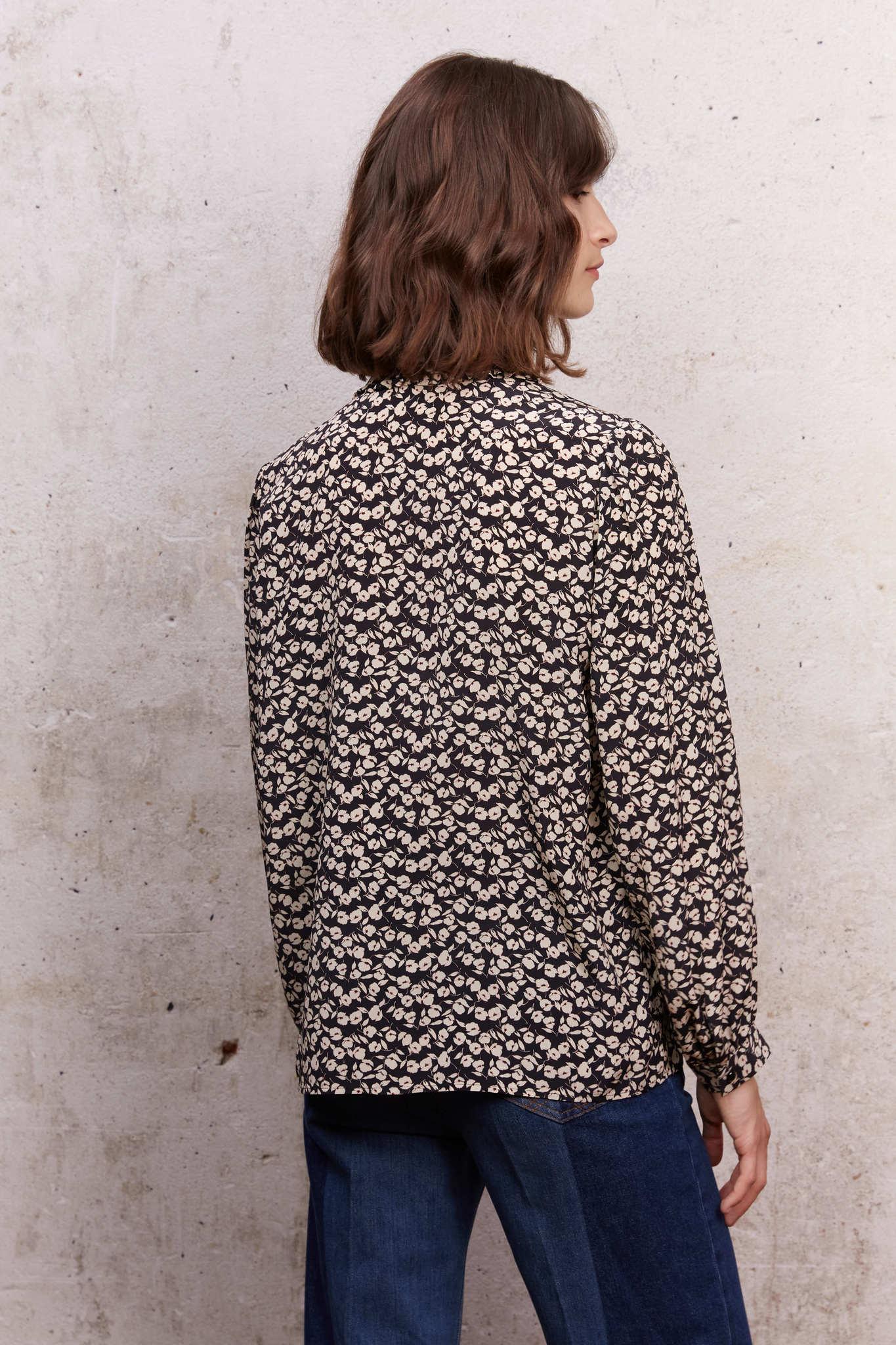 CHEYENNE - Шелковая блуза с цветочным принтом