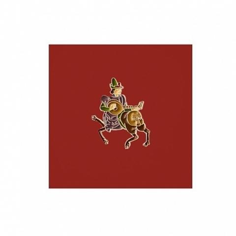 Значок металлический Страдающее Средневековье: Лютнист