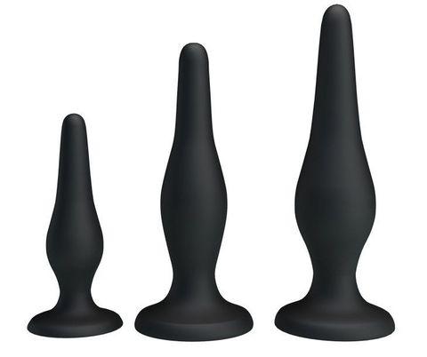 Набор из 3 силиконовых анальных пробок для начинающих Mini Anal Kit