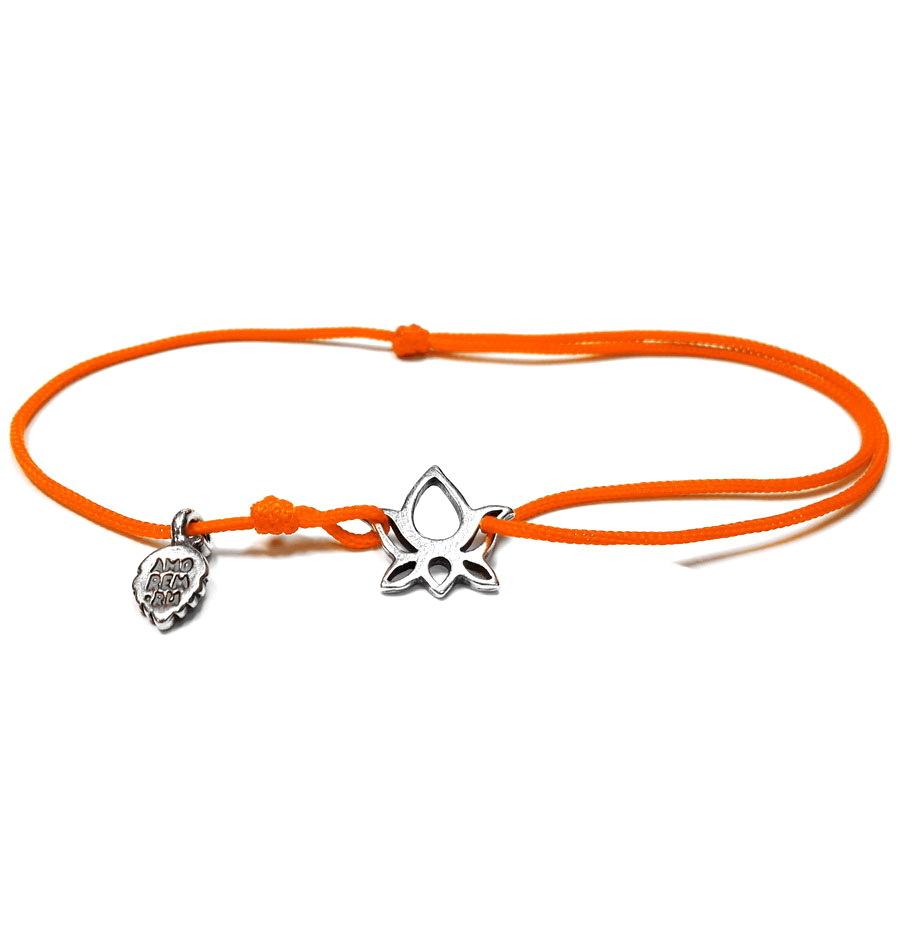 Lotus bracelet, sterling silver