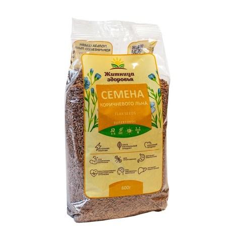 Семена льна, 600 гр. (Житница здоровья)