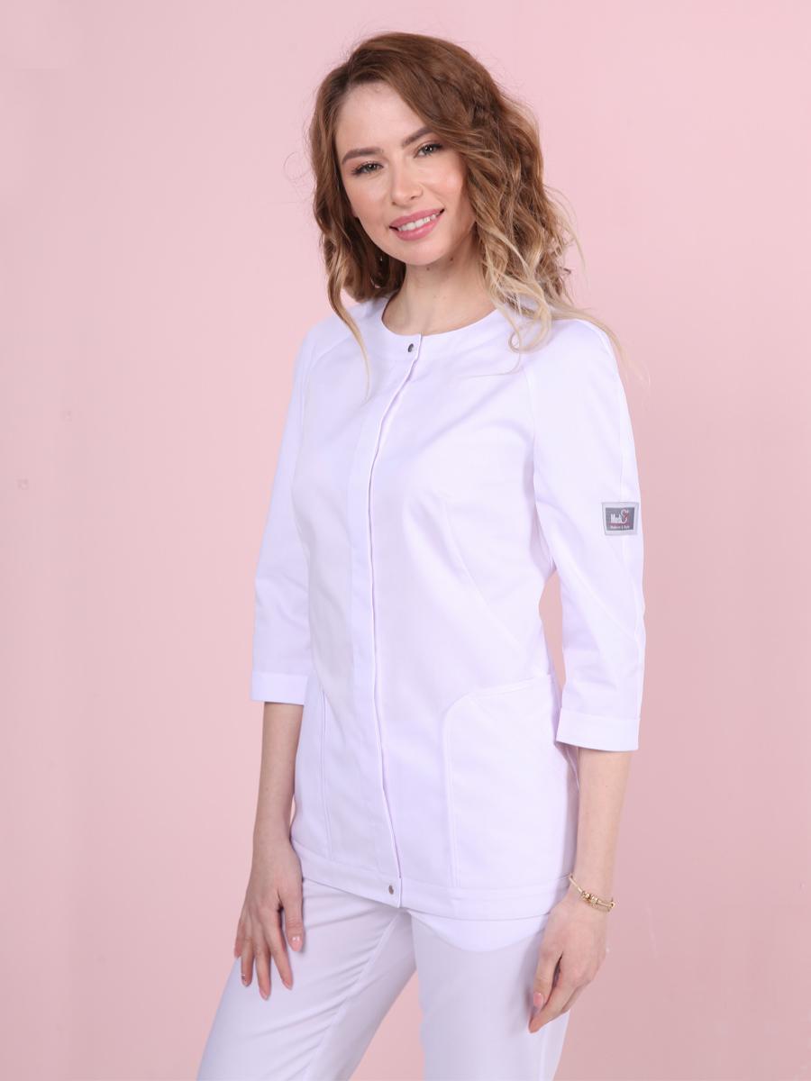 Стильная белая медицинская блуза|MediS.moda