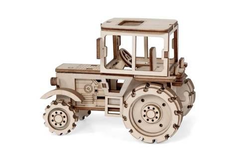 Маленький Трактор от Леммо - Деревянный конструктор, 3D пазл, для детей и взрослых. Интересные подарки, фото