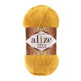 Пряжа Alize Diva Stretch желтый 488
