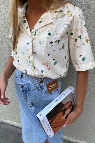 Рубашка в пижамном стиле