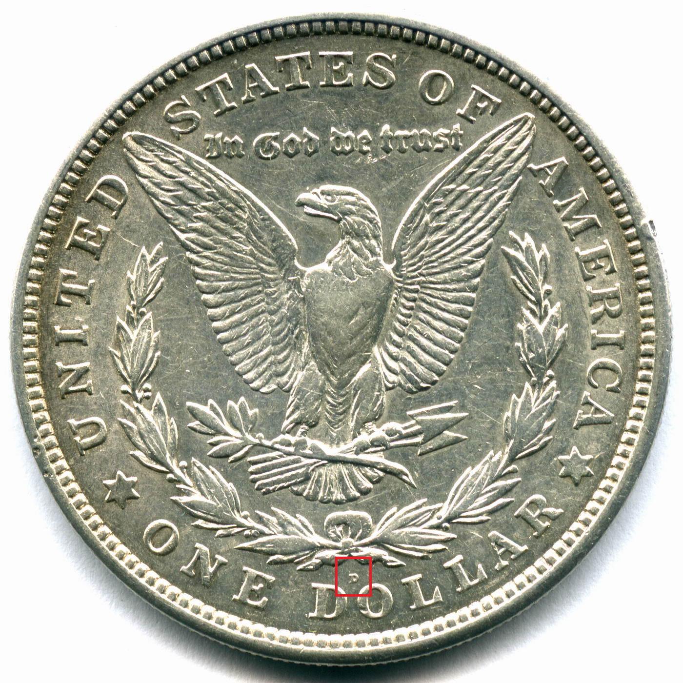 1 доллар 1921 (D). США XF+ (Морган)