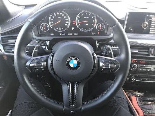 Карбоновая вставка в М руль для BMW X6M F86