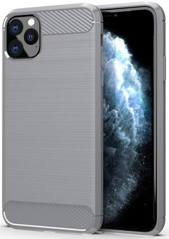 Чехол для iPhone 11 Pro Max цвет Gray (серый), серия Carbon от Caseport