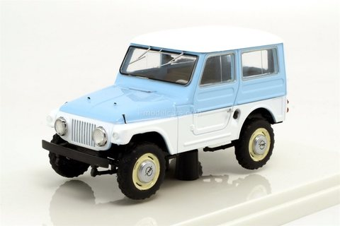 Moskvich-416 1960 white-blue Prommodel43 1:43