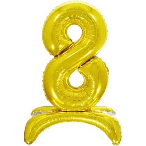 8 Цифры на подставке на пол, Золото, 81 см