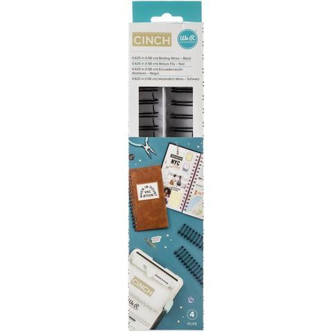 Набор пружин для биндера- ( диаметр 1,58 см )- We R Memory Keepers Cinch Wires - 4 шт- Цвет  черный